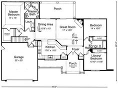 Plan #17716: 3 bedroom, 3 bath house plan with 2-car garage. Craftsman house style, 1 story | HousePlansPlus.com