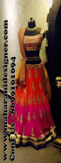 #DesignerLehengaOnline #LatestLehengaOnline #PartyWearlehengaOnline #IndianLehengaOnline Maharani Designer Boutique  To buy it click on this link http://maharanidesigner.com/Anarkali-Dresses-Online/lehenga-online/ Rs - 17800 Fabric - Georgette  Hand work  Available in All Colors Fine Quality fabric  For any more information contact on WhatsApp or call 8699101094 Website www.maharanidesigner.com