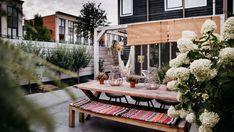 ogródek taras - Szukaj w Google Boho, Table Settings, Table Decorations, Garden, Furniture, Google, Home Decor, Garten, Decoration Home