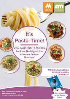 It`s Pasta Time! Ab Montag den 4.05. gibt es wieder leckere Pastagerichte! Mensa, The Originals, Easy Meals