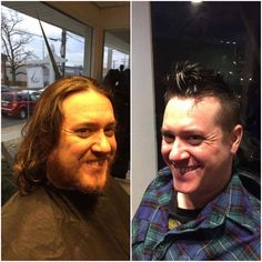 The Bend Salon • Barber - Webster Groves, MO - WOW! Talk about a transformation!! Before & After | Cut, Style & Shave by our barber Pat.