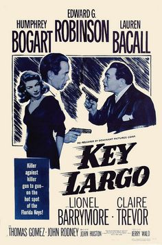 My Favorite Classic Film Noir - Key Largo, 1948 - Directed by John Huston, Starring Humphrey Bogart, Edward G. Robinson, & Lauren Bacall