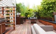 Contemporary Deck by Scot Eckley Inc —check out the link for more amazing pics of the courtyard