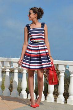 Beautiful Striped Summer Dress