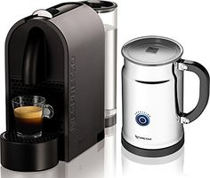 Nespresso U D50 Mat Grey Espresso Machine with Aeroccino Plus Milk Frother - http://teacoffeestore.com/nespresso-u-d50-mat-grey-espresso-machine-with-aeroccino-plus-milk-frother/
