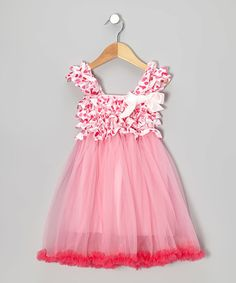 Look what I found on #zulily! Pink Hearts Ruffle Babydoll Dress - Toddler & Girls #zulilyfinds