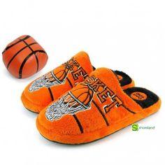 Para Basket lovers estas zapatillas de casa tipo chinelo para niños en terciopelo color naranja de Gioseppo Con pelotita de basket de regalo Del 30 al 35