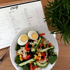 Saladebar CROP Utrecht, Cobb Salad, Food, Essen, Meals, Yemek, Eten
