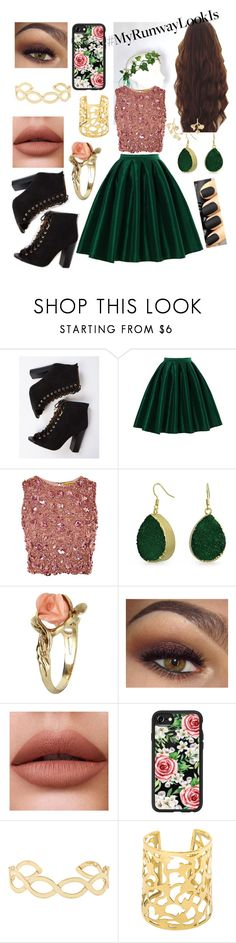 """My Runway Look #2"" by merrykate2000 ❤ liked on Polyvore featuring Chicwish, Lace & Beads, Bling Jewelry, Vintage, Casetify, Accessorize and Kenneth Jay Lane"