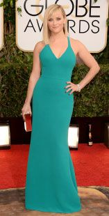 Reese Witherspoon usando Calvin Klein Collection en los #GoldenGlobes14 - #CK #Puebla #LuxuryHall