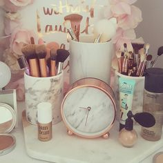 Marble and Rose Gold Dresser More