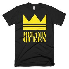 African American T-shirts, Black Pride T-shirts, Melanin Queen - Melanin Apparel
