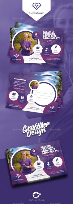 Healthy Life Postcard Template PSD, InDesign INDD