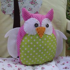 Owl pillow plush toy