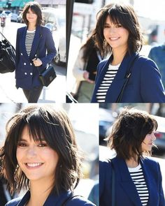 Cute Short Haircuts with Bangs for Women in Frisuren, Cute Short Haircuts with Bangs for Women in 2019 Medium Bob With Bangs, Short Haircuts With Bangs, Medium Bob Hairstyles, Short Hair With Bangs, Medium Hair Cuts, Short Hair Cuts, Medium Hair Styles, Curly Hair Styles, Bob Haircuts