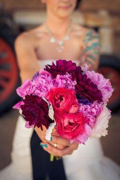 Le bouquet de la mariée | Look Mariage | Queen For A Day - Blog mariage