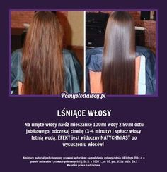 EKSPRESOWY TRIK NA PIĘKNIE LŚNIĄCE WŁOSY! Beauty Care, Diy Beauty, Beauty Hacks, Natural Cosmetics, Love Hair, Hair Hacks, Hair Goals, Skin Care Tips, Health And Beauty