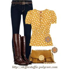 Preppy In Mustard, created by steffiestaffie on Polyvore