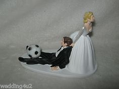 Wedding party #reception #~soccer ball~ cake topper #sports bride dragging groom ,  View more on the LINK: 	http://www.zeppy.io/product/gb/2/291059856733/