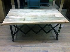 Go #Industrial With This #Table From #Nadeau #Chicago! #Furniture