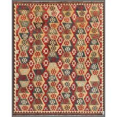 Afghan Hand-knotted Mimana Kilim Ivory/ Brown Wool Rug (7'11 x 9'8) | Overstock.com Shopping - Great Deals on 7x9 - 10x14 Rugs