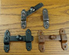 Rustic Latch Hand-forged iron - Black More