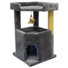 Carpet Cat Furniture for Large Cats 33 inch Big Condo, Spacious Bed and Sisal Rope, Gray Carpet ** Check out the image by visiting the link. (This is an affiliate link and I receive a commission for the sales) Condo Furniture, Large Beds, Sisal Rope, Cat Fleas, Cat Condo, Cat Feeding, Grey Carpet, Pet Beds, Cats
