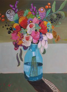 """Flower Abundance 9"" (Sold) by Susan Trudinger. Paintings for Sale. Bluethumb - Online Art Gallery"