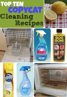 Copycat Cleaning Recipes