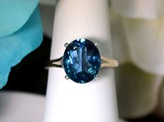 Beautiful by MarileiJewelry London Blue Topaz, Topaz Ring, Bling Bling, Sapphire, Jewels, Gemstones, Rings, Pretty, Color