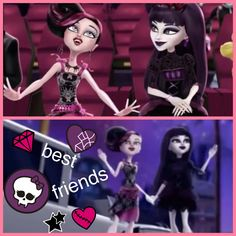 Elissabat and draculaura best friends by me by monster high home