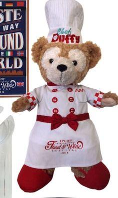 Disney Epcot Food Wine Festival 2014 Duffy Bear Chef Logo Plush Limited WDW | eBay