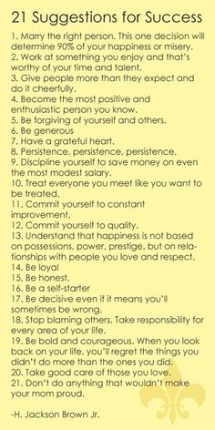 These apply to life as well.