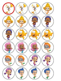 bubble guppies cake toppers - Google Search