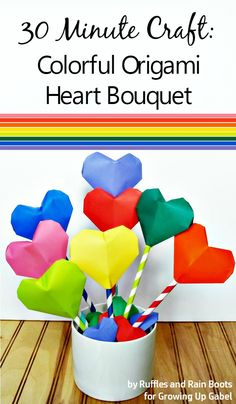Origami Heart Bouquet and Garland