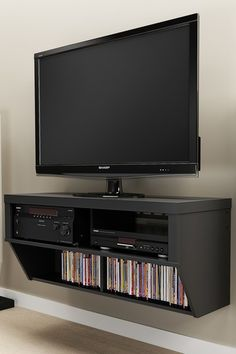 42'' Wide Wall Mounted AV Console - Series 9 Designer Collection - Black  by Entryway and Living Room Storage on @HauteLook $198