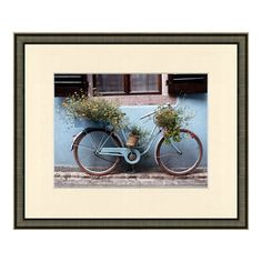 I don't want the framed print, I want the old bike with flowers on it