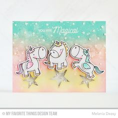 Magical Unicorns, Magical Unicorns Die-namics, Inside & Out Stitched Stars Die-namics - Melania Deasy  #mftstamps