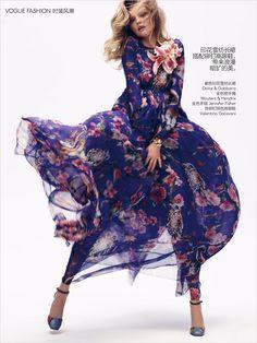 Magdalena Frackowiak in Dolce&Gabbana Fall 2014 for Vogue China September 2014