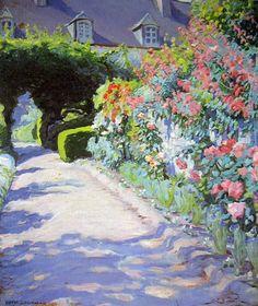 Cottage Garden, Etaples, France / Hilda Rix Nicholas