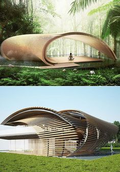 nature This elegant architecture project blurs the line between exterior and interior, . This elegant architecture project blurs the line between exterior and interior, making nature just as important a component as the design itself. Pavilion Architecture, Organic Architecture, Landscape Architecture, Interior Architecture, Parametric Architecture, Online Architecture, Interior Design, Roman Architecture, Spanish Architecture