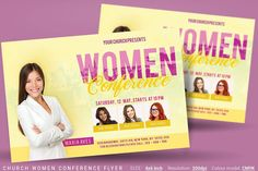 Church Women Conference Flyer by Artolus Flyer Size, Creative Photoshop, Creative Flyers, Flyer Template, Brochure Template, Christian Women, Design Bundles, School Design, Flyer Design