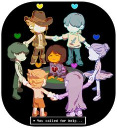 Frisk with previous souls OH GOSH IT JUST HIT ME THE TUTU AND THE COWBOY HAT AND THE LIKES WAS LEFT BY THE OTHER HUMAN CHILDREN OH GOSH