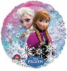 Disney Frozen Elsa and Anna Standard Holographic Party Balloon