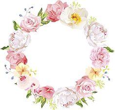 Pretty Pinterest Hipster Wedding Engagement Floral Wreath Watercolor Art Vinyl Decal Sticker (12″ Wide)