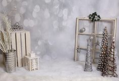 Simple but beautiful set up Christmas Minis, Elegant Christmas, Modern Christmas, Simple Christmas, White Christmas, Christmas Photography Backdrops, Christmas Backdrops, Gold Christmas Decorations, Christmas Settings
