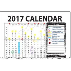 Service Year Vertical Wall Calendar September  To August