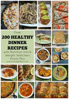 Start your new year off right with over 200 lightened up comfort food recipes for dinners on www.emilybites.com! Recipes include Weight Watchers points and nutrition info. #healthy #recipes