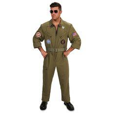 Adult Fighter Pilot Jumpsuit Costume, Size: Medium, Multicolor