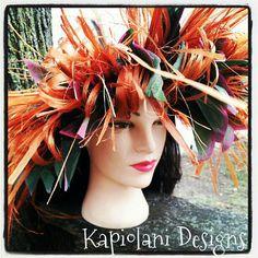 Tahitian Raffia Headpiece  Tahitian Costume  by KapiolaniDesigns, $20.00